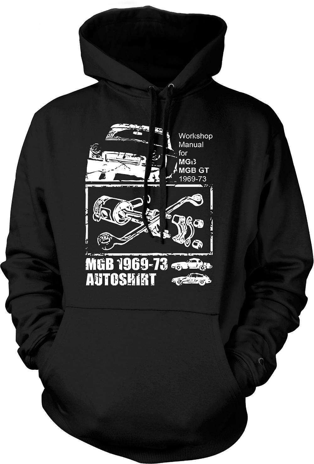 Mens Hoodie - MGB GT 69 - 73 - Classic Car