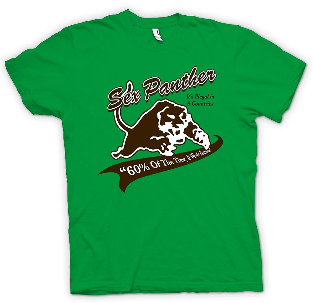 Mens T-shirt - Anchor Man - Sex Panther - Funny