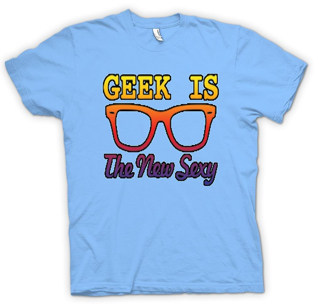 Mens T-shirt - Geek is the new Sexy Wayfarer