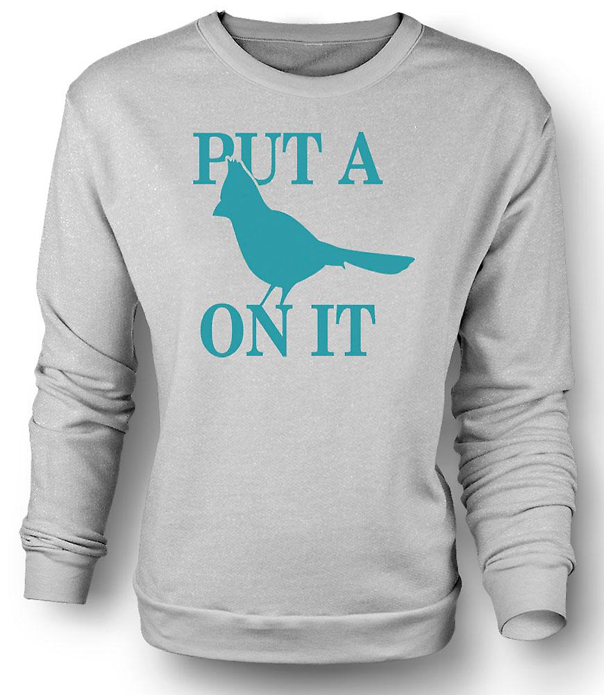 Mens Sweatshirt Portlandia - Put A Bird On It