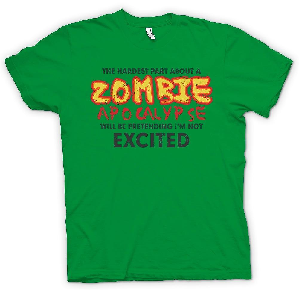 Herr T-shirt - svåraste med en Zombie Apocolypse - Funny
