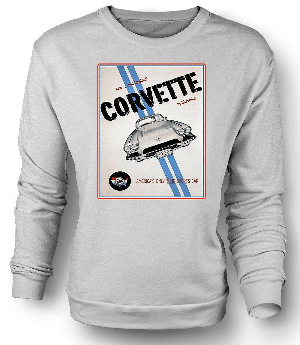 Mens Sweatshirt Chevy Corvette sport - bil