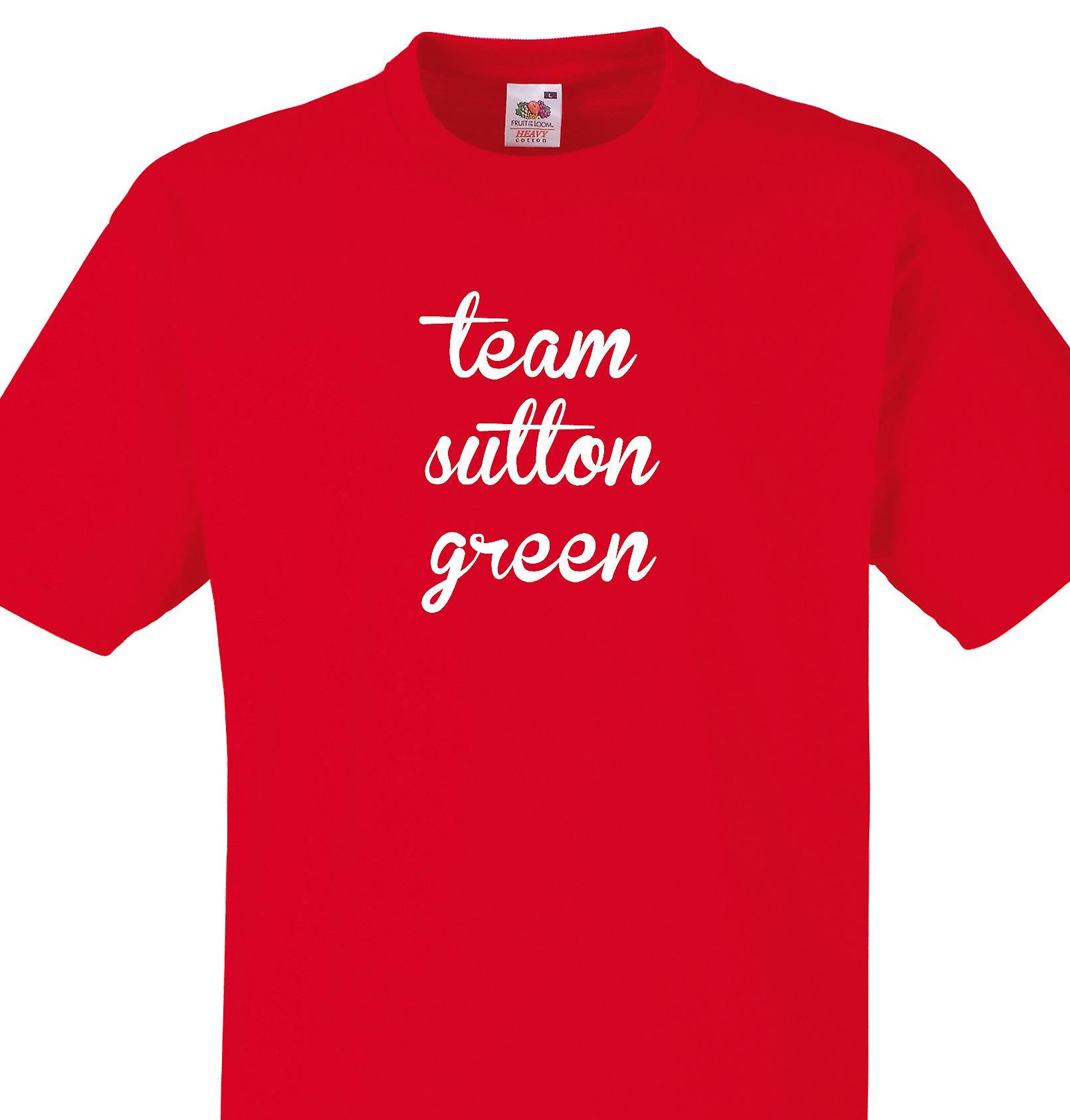 Team Sutton green Red T shirt