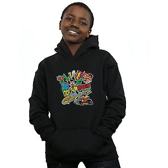 DC Comics Boys Teen Titans Go Robin Montage Hoodie