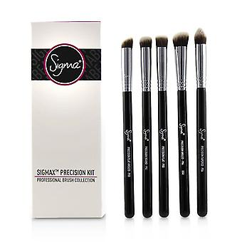 Sigma Beauty Sigmax Precision Kit Professional Brush Collection - # Black - 5pcs