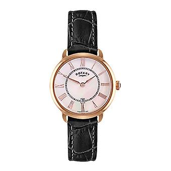 Rotary LS02919/41 Analog wristwatches, female, black leather strap