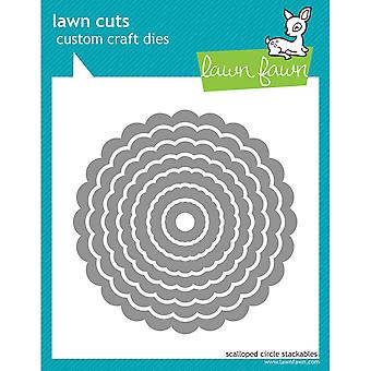 Lawn Cuts Custom Craft Stackables Dies-Scallop Circles, .625-quot; To 4-quot;