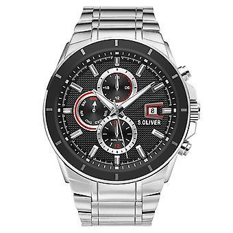 s.Oliver Herren Uhr Armbanduhr Edelstahl SO-3757-MM