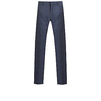 Dobell Mens Mississippi Blue 2 Piece Suit Slim Fit Notch Lapel
