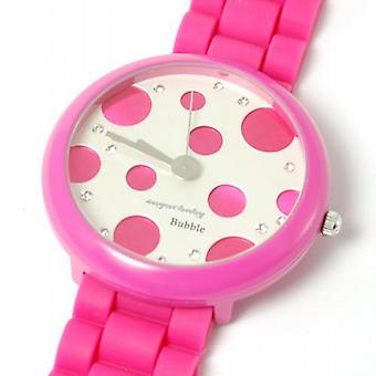 Sugarbaby Bubble Pink Silicone Strap Ladies Fashion Watch SB014