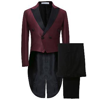 Allthemen Men's Tuxedo Suit Wedding Dress Slim Fit 2-Pieces Suit Tops&pants