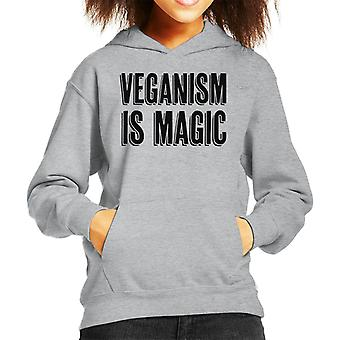 Veganism Is Magic Kid's Hooded Sweatshirt