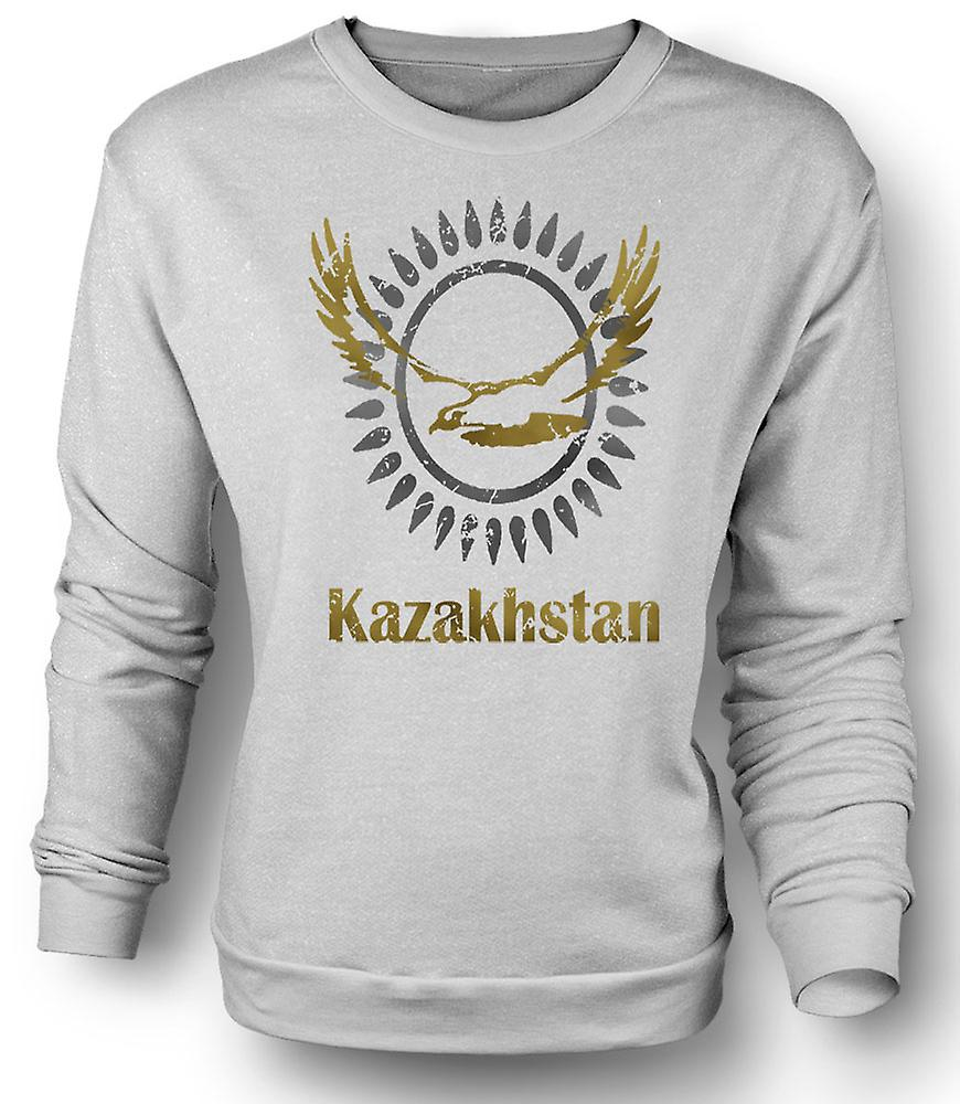 Mens Sweatshirt Kazakhstan - Cool Design Funny