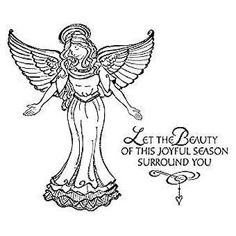 Spellbinders Joyful Season Angel Cling Stamp (SBS-166)