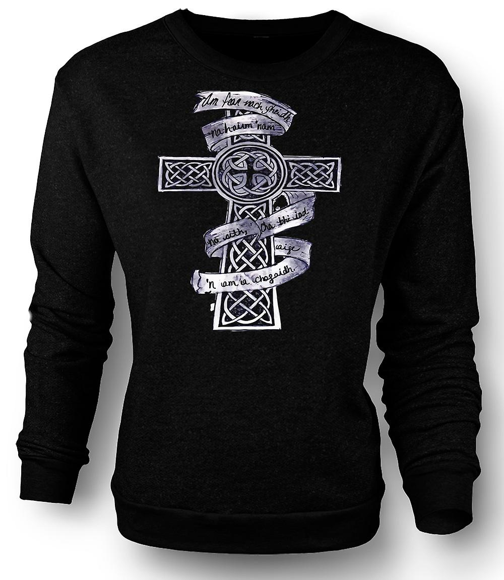 Mens Sweatshirt keltisk kors Tribal Tattoo