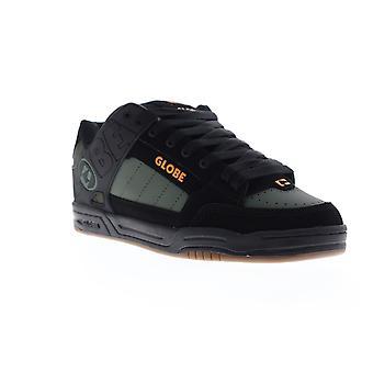 Globe Tilt Mens Black Nubuck & Synthetic Athletic Lace Up Skate Shoes