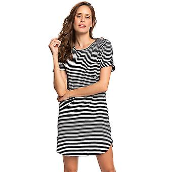 Roxy Young Womens Walk Alone Short Sleeve T-Shirt Dress - Anthracite Black/White