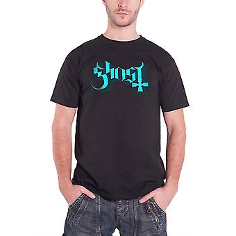 Ghost Blue Keyline Logo Official Mens New Black T Shirt