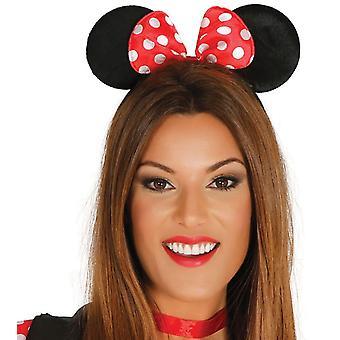 Womens filles tissu souris oreilles serre-tête déguisements accessoires