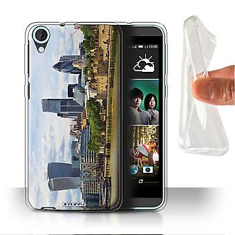 STUFF4 Gel/TPU Case/Cover for HTC Desire 820q Dual/City of London/London Sites