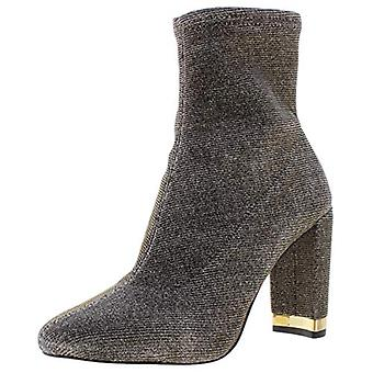 Michael Michael Kors Womens Mandy Metallic Ankle Booties Gold 5.5 Medium (B,M)
