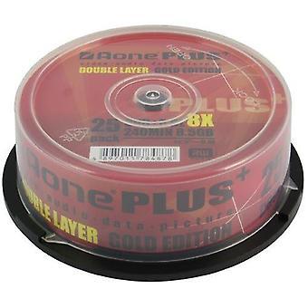 Aone DVD + R 8X schreiben 8,5 GB Dual Layer Logo OVERBURN 25pcs Cakebox
