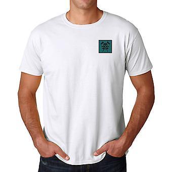 Den kungliga Queens lancers broderat TRF Logo - officiella brittiska armén bomull T Shirt