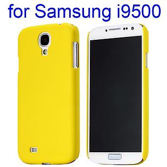 Hardt etui med gummi myk gel, til Samsung Galaxy S4 i9500 (gul)