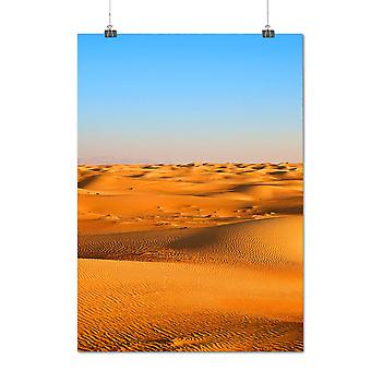 Matte or Glossy Poster with Desert Sand Photo Nature Nature Beauty | Wellcoda | *q1299
