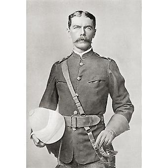 Lord Kitchener im Jahre 1882 als Major der ägyptische Kavallerie Feldmarschall Horatio Herbert Kitchener 1. Earl Kitchener 1850 PosterPrint