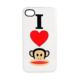 Paul Frank® Hearts Julius Hardcover case for iPhone 4 / 4 S i hvid