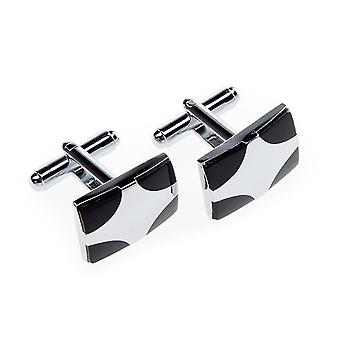 Frédéric Thomass cuff links square creative II Black Silver stainless steel