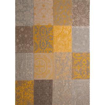Vintage Yellow Floral Patchwork Rug - Louis De Poortere