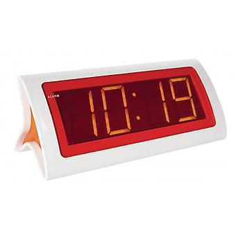 Balance LED Alarm Clock Digital White/Red