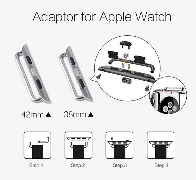 Metal adapter bracelet gold Apple watch 38 mm