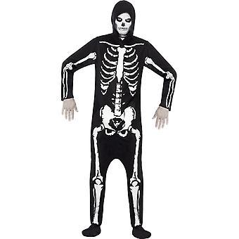 Skelett-dräkt, svart
