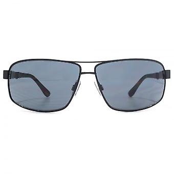 French Connection Rectangle Pilot Sunglasses In Black Tortoise
