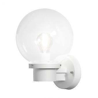 Konstsmide Nemi White Wall Light With Dusk To Dawn Sensor