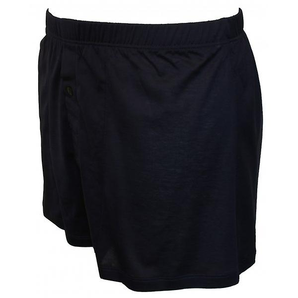 Hanro Cotton Sporty Boxer Short, Midnight Navy