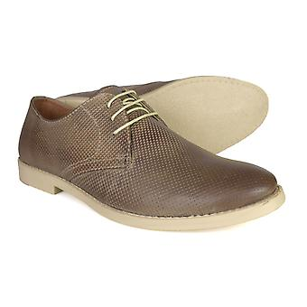 Red Tape Michael Men's Stone Leather Formal Lace-up Shoes