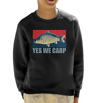 Yes We Carp Kid's Sweatshirt