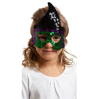 My Other Me Sequins Mask Witch (Costumes)
