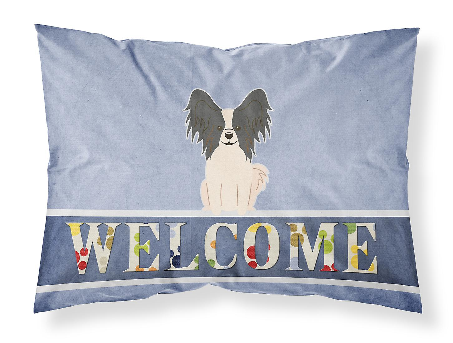 Bienvenue Papillon Noir D'oreiller Du Tissu Taie Standard Blanc vN80mnwO
