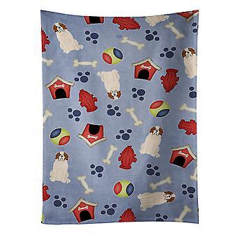 Carolines Treasures  BB2648KTWL Dog House Collection Saint Bernard Kitchen Towel