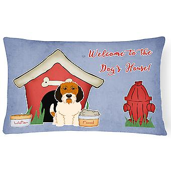 Dog House Collection Petit Basset Griffon Veenden Canvas Fabric Decorative Pillo