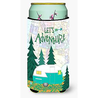 Let's Adventure Glamping Trailer Tall Boy Beverage Insulator Hugger