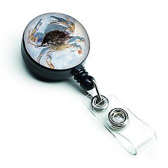 Carolines Treasures  8011BR Blue Crab Retractable Badge Reel