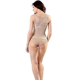 Esbelt ES5750 feminino nu empresa/médio controle emagrecimento moldar Camisole Top