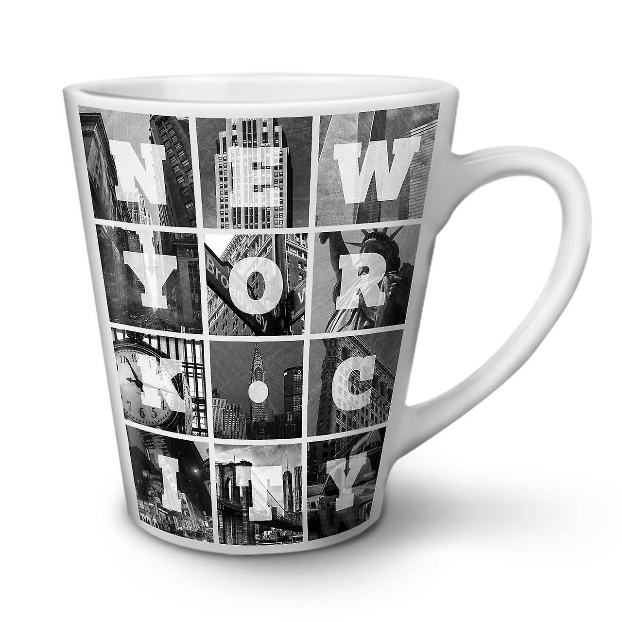 Nouvelle New Latte Céramique OzWellcoda City Blanche Tasse Café York 12 En Photo bfY7gy6
