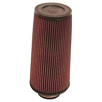 K&N RE-0800 Universal Clamp-On Air Filter: Round Tapered; 3 in (76 mm) Flange ID; 12 in (305 mm) Height; 6 in (152 mm) B